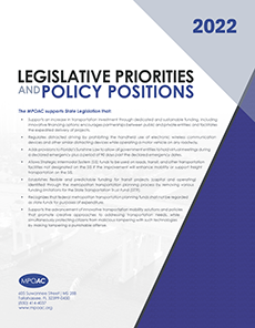 2022 MPOAC Legislative Priorities and Policy Positions - Documents